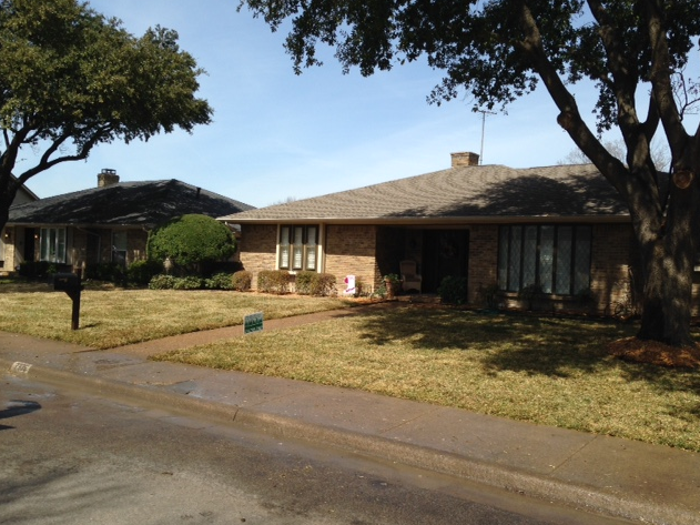 front lawn with new sod grass